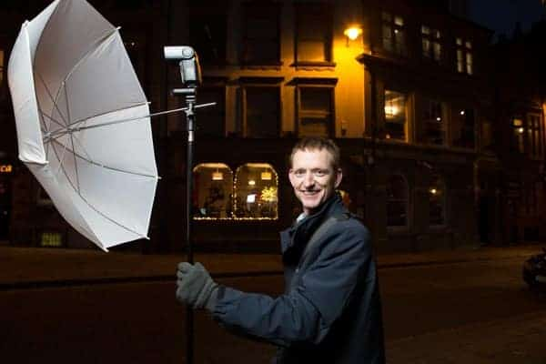 treet work with strobes: lighting test shot by Peter McConnochie