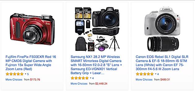 Amazon Warehouse Deals for Camera Gear