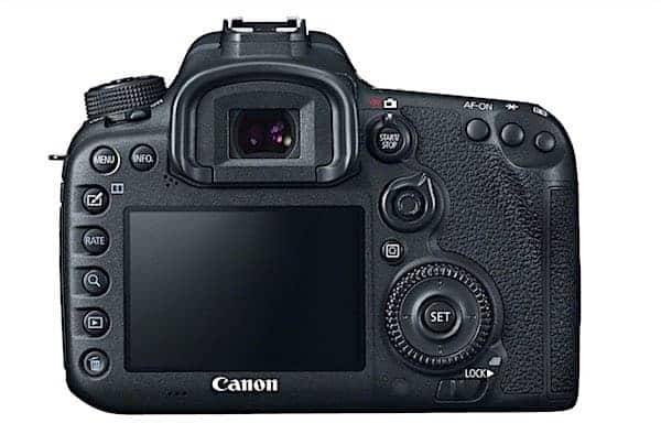 EOS D7 II fixed LCD on back