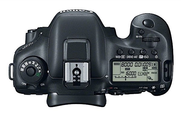 Canon 7D Mark II: View from Top