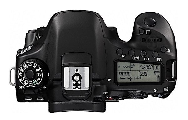 Top View of the Canon 80D