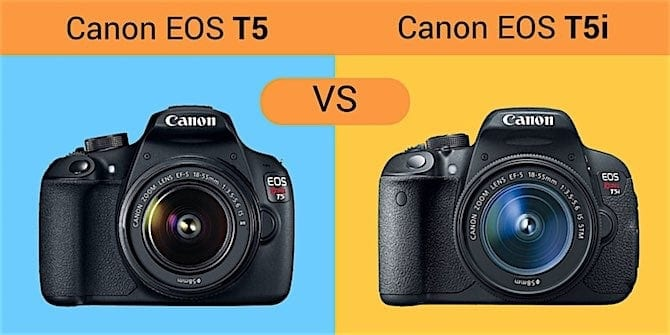 Canon EOS T5 vs Canon EOS T5i: What is the difference?
