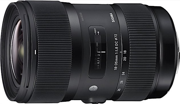 Sigma 18-35mm F1.8 DC HSM Lens (Black)