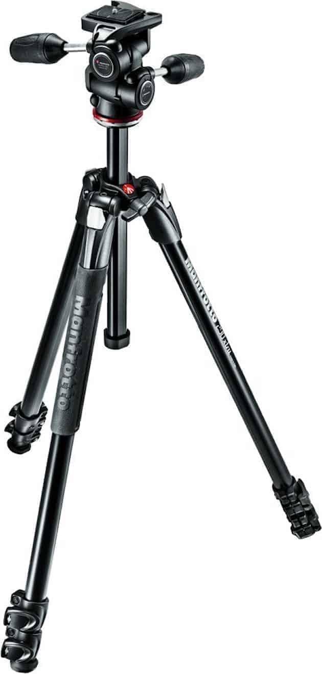 Manfrotto MK290XTA3-3WUS 290 Xtra 3-Way Head Kit (Black)